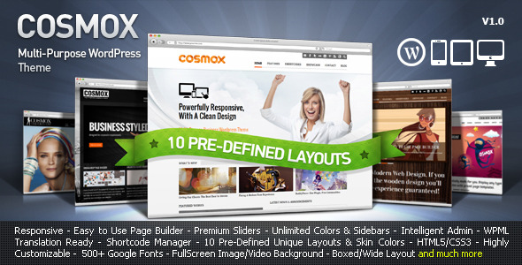 COSMOX – Multipurpose WordPress Theme