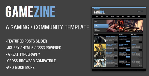 GameZine – a Gaming / Community Template
