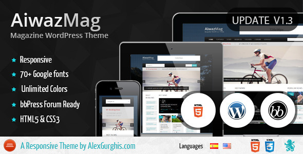 AiwazMag – Responsive Magazine WordPress Theme