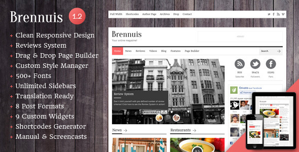 Brennuis – WordPress Magazine/Blog