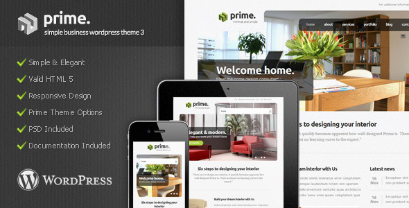 Prime – Simple Business WordPress Theme 3
