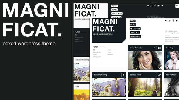 MAGNIFICAT Photography Responsive WordPress Theme