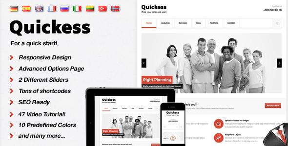 Quickess Responsive Corporate WordPress Theme