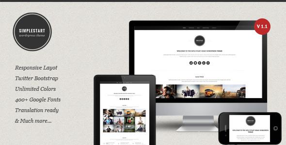 SimpleStart – Responsive Portfolio & Blog Theme