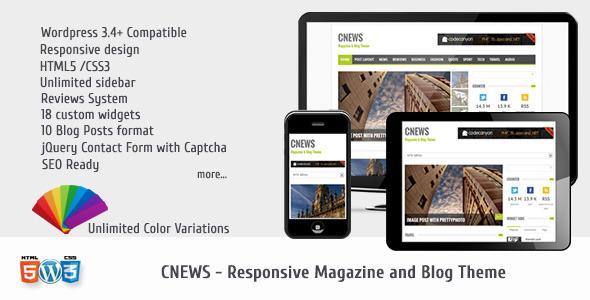 CNEWS – Responsive Magazine and Blog Theme