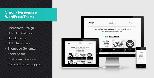Vision – Responsive WordPress Theme