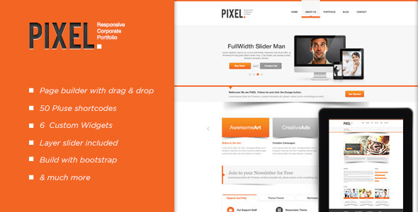 Pixel Responsive WordPress Theme