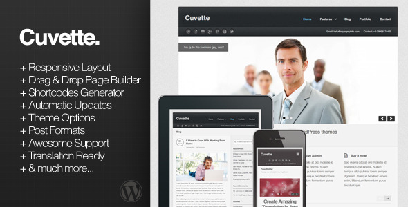 Cuvette Responsive Business WordPress Theme