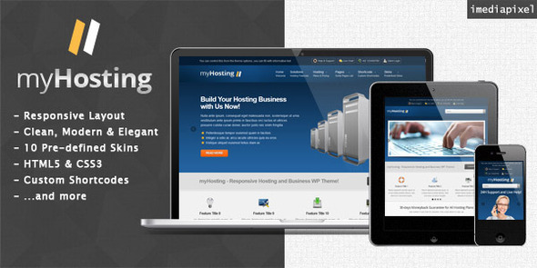 myHosting – Responsive Hosting & Business Theme