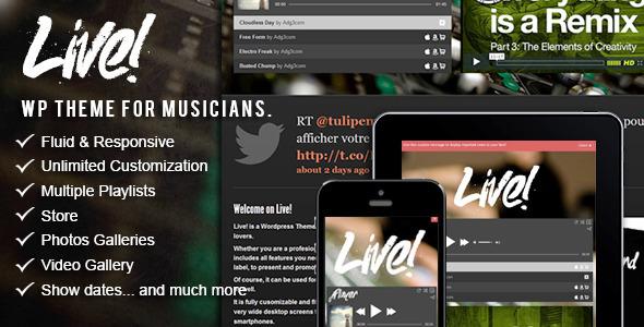 Live! – Music WordPress Theme