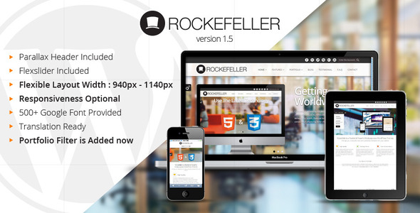 Rockefeller – Flexible & Multipurpose WP Theme