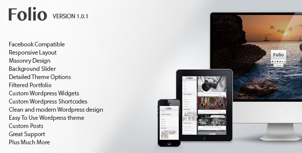 Folio – Responsive Photographers WordPress Theme