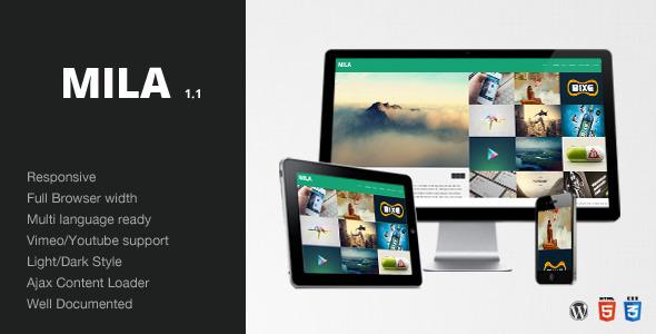 Mila – Ajax Portfolio Theme – WordPress
