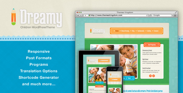 Dreamy – Responsive Children WordPress Theme