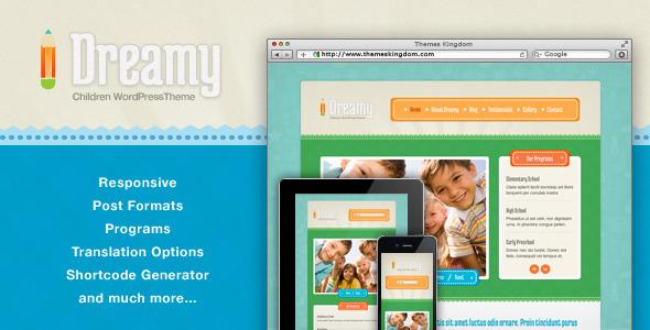 Dreamy – Responsive Children WordPress Theme