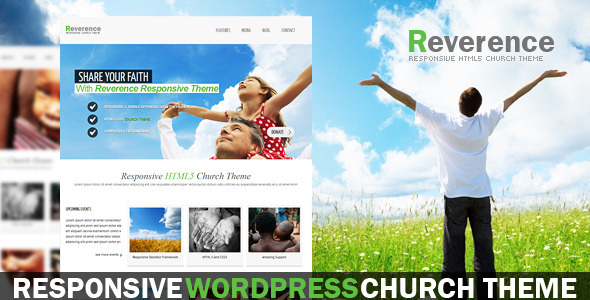 Reverence – Church Responsive WordPress HTML 5 The