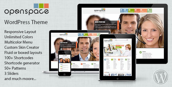 OpenSpace Responsive Mulipurpose WordPress Theme