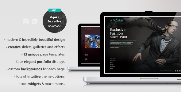 Agora – The incredible showcase theme