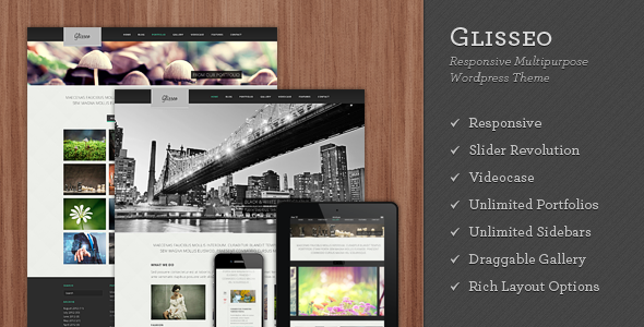 Glisseo – Responsive Multipurpose WordPress Theme