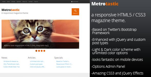 Metrotastic – Responsive Magazine Theme
