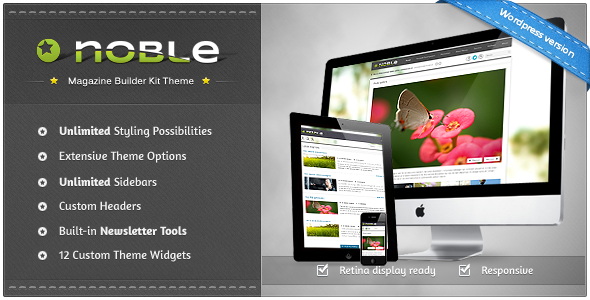 Noble – Responsive Magazine Builder Kit Theme