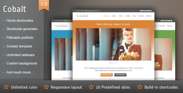 Cobalt – Responsive WordPress Theme