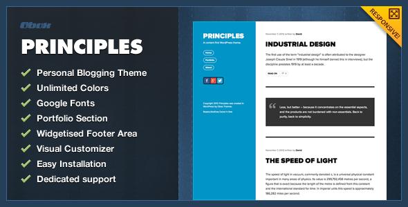 Principles – WordPress Blogging Theme