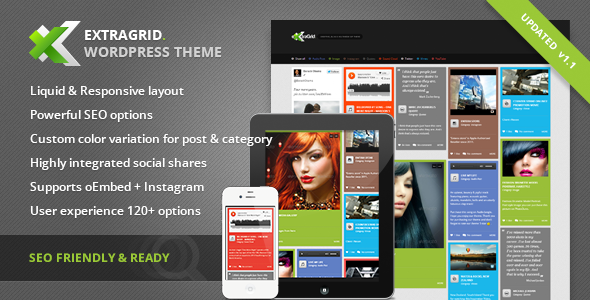 ExtraGrid – Creative, Blog & Multimedia theme