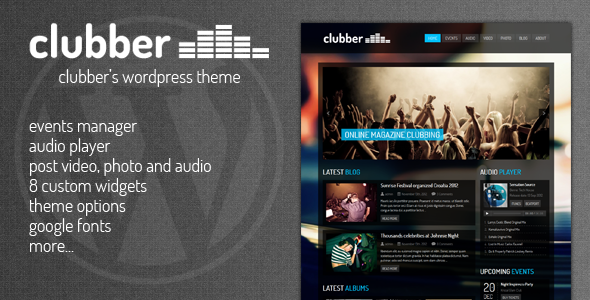 Clubber – Events & Music WordPress Theme