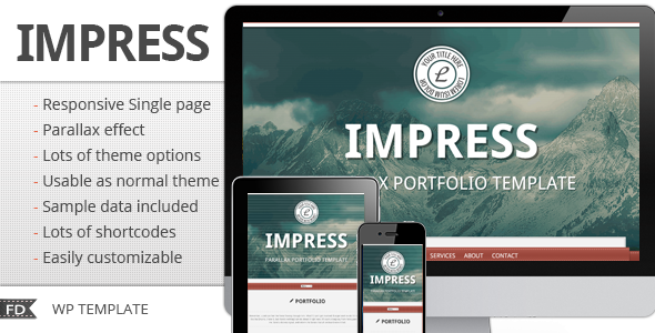 Impress – Responsive parallax single page theme