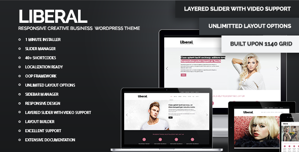 Liberal – WordPress Responsive Business Theme