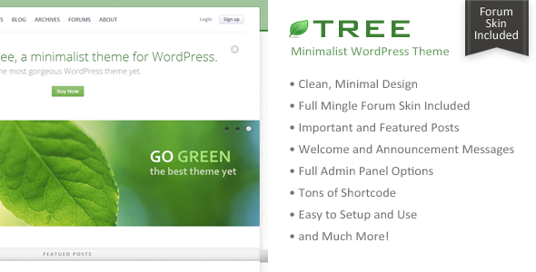 Tree – Minimal Blog WordPress Theme