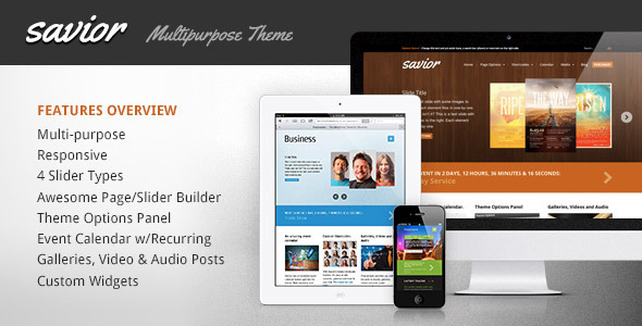 Savior – A Powerful Multi-Purpose WordPress Theme