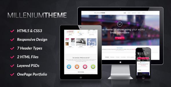 Millennium – Responsive One Page WordPress Theme