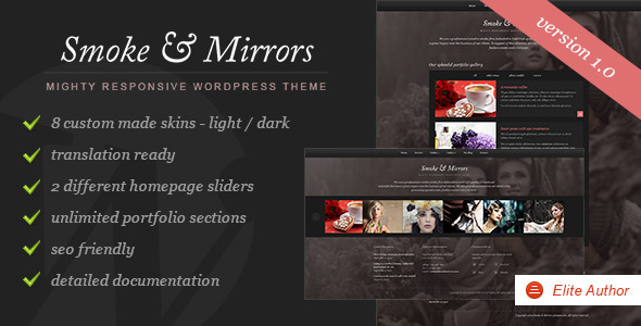 Smoke & Mirrors WordPress Theme