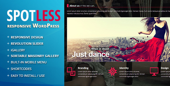 Spotless – Responsive Ajax WordPress Theme