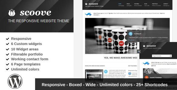 Scoove responsive corporate wordpress theme