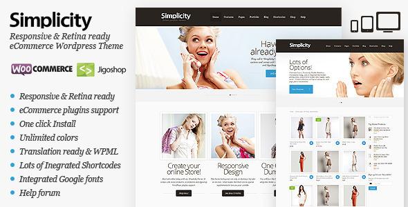 Simplicity – eCommerce WordPress Theme, Responsive