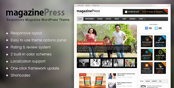 MagazinePress – WordPress Theme With Review System