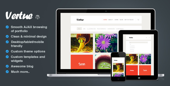 Vertue – clean and minimal AJAX portfolio theme