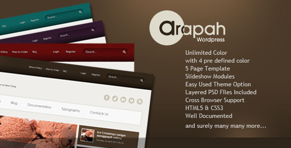 Arapah – Modern Culinary WordPress Themes