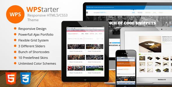 WPStarter – Responsive HTML5/CSS3 Theme