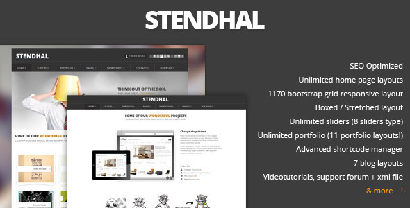 Stendhal – Portfolio & Corporate Theme