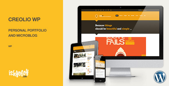 Creolio WP – Personal portfolio and microblog