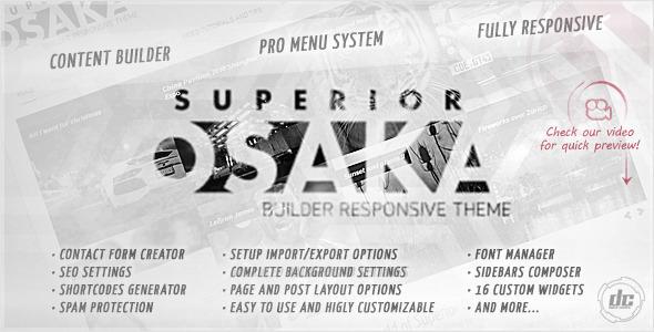 Superior Osaka – Builder Responsive WPTheme