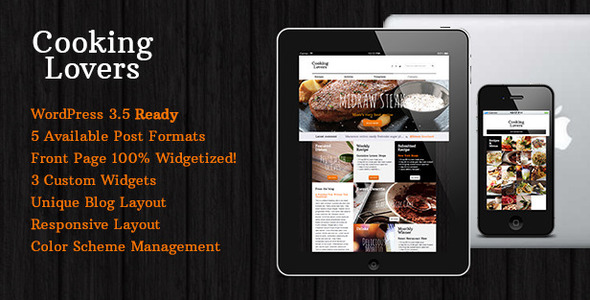 Cooking Lovers – Responsive WordPress Theme