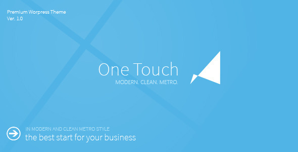 One Touch – Multifunctional Metro Stylish Theme