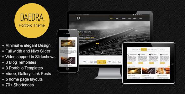 Daedra – Responsive Portfolio WordPress Theme