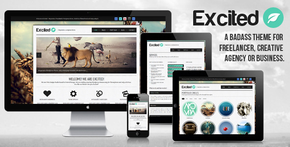 Excited – Responsive WordPress theme
