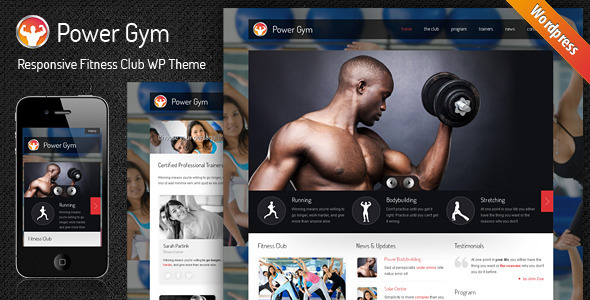 Power Gym – Responsive WordPress Theme